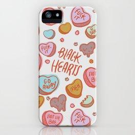 Black Hearts iPhone Case