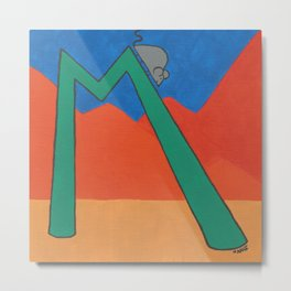M is for Mouse Metal Print