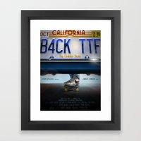 Back To The Future - Bruin Framed Art Print