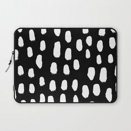 Spots black and white minimal dots pattern basic nursery home decor patterns Laptop Sleeve