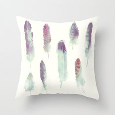 Feathers // Birds of Prey Throw Pillow