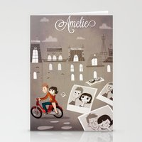 amelie Stationery Cards featuring Amelie by The Fan Wars