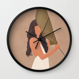 Shade of a Leaf Wall Clock