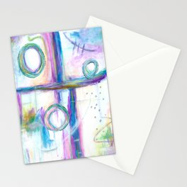 Just the Three of Us, Abstract Art Painting Stationery Cards