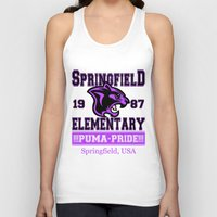 simpsons Tank Tops featuring Springfield Elementary Pumas  |  Simpsons by Silvio Ledbetter