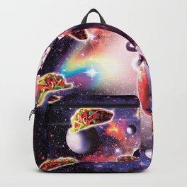 Cowboy Space Cat On Goat Unicorn - Taco Backpack