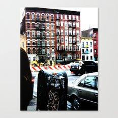 Outside Katz's Deli, NYC Canvas Print