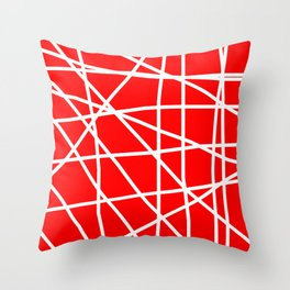 Doodle (White & Red) Throw Pillow