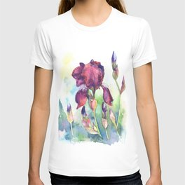 Watercolor iris flowers T-shirt