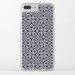 My Lucky Day Lilac Gray Clear iPhone Case