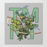 tmnt Canvas Prints featuring TMNT by Ryan Liebe