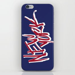 New York Hand Lettering Type iPhone Skin