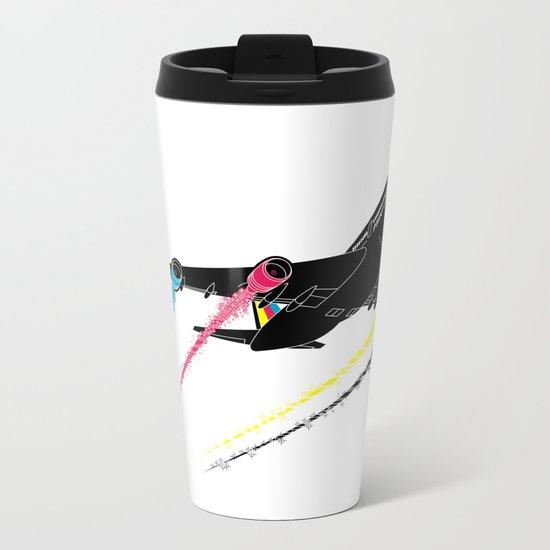 Ink Jet Metal Travel Mug