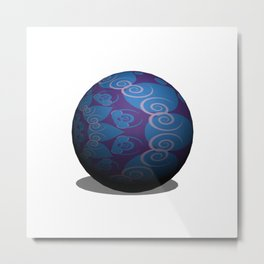 Illustrated Sphere Metal Print