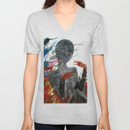 with my voice i'm calling you Unisex V-Neck