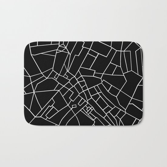 London Road Blocks Black Bath Mat