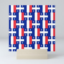 Mix of flag : France and Quebec Mini Art Print