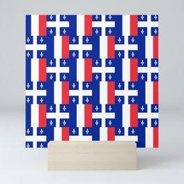 Mix of flag: France and Quebec Mini Art Print