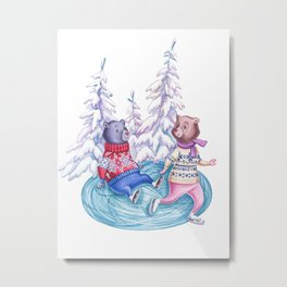 Clumsy Bear Metal Print