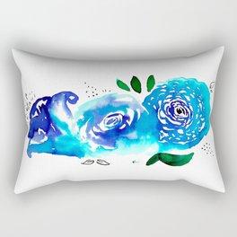 Three Blue Christchurch Roses Rectangular Pillow