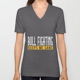 Bullfighting Lover Gift Idea Design Motif Unisex V-Neck