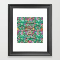 autumn is a second spring Framed Art Print