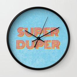 Super-Duper Wall Clock