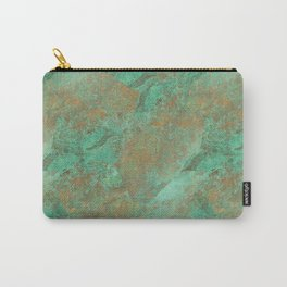 Verdigris Patched Texture Carry-All Pouch