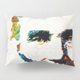 Abraham Lincoln Art - Colorful Abe - By Sharon Cummings Pillow Sham