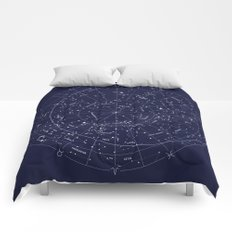 Constellation Map Indigo Comforters