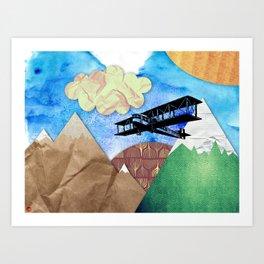 Paper plans Art Print