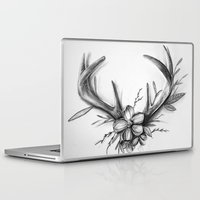 antlers Laptop & iPad Skins featuring Antlers by Robyn Marshall