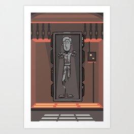 EP6 : Han Solo in Carbonite Art Print