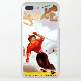 Limone Piemonte ski Italy Clear iPhone Case