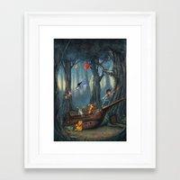 winnie the pooh Framed Art Prints featuring Winnie the Pooh by muratturan