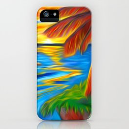 Palm Island Sunrise iPhone Case