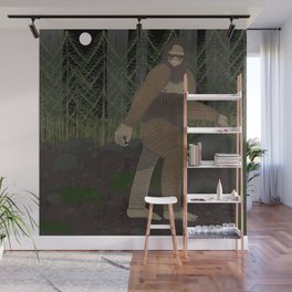 Bigfoot in the Forest Wall Mural