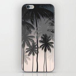 Palms trees at night iPhone Skin