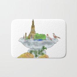 Bangkok, Breakfast, Bird Bath Bath Mat