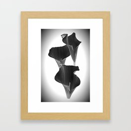 Black Calla Lilly Framed Art Print