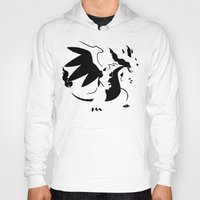 charizard Hoodies featuring Charizard Mega X by Ruo7in