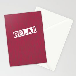 Red Relax Stationery Cards