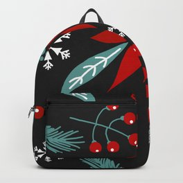 christmas flowers Backpack