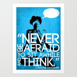 Never Be Afraid (R-Rated) Art Print