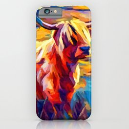 Highland Cow 4 iPhone Case