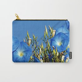 Heavenly Blue Morning Glories Carry-All Pouch