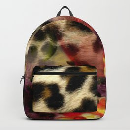 Animal Print & Floral Collage Backpack