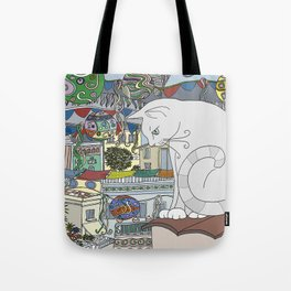 cat & party night Tote Bag