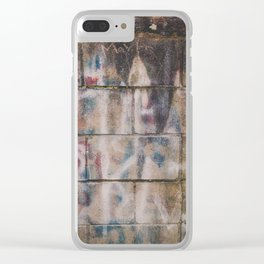 Cement Brick Graffiti Abstract Photograph Clear iPhone Case
