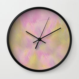 Soft Pastel Feathered Abstract Wall Clock